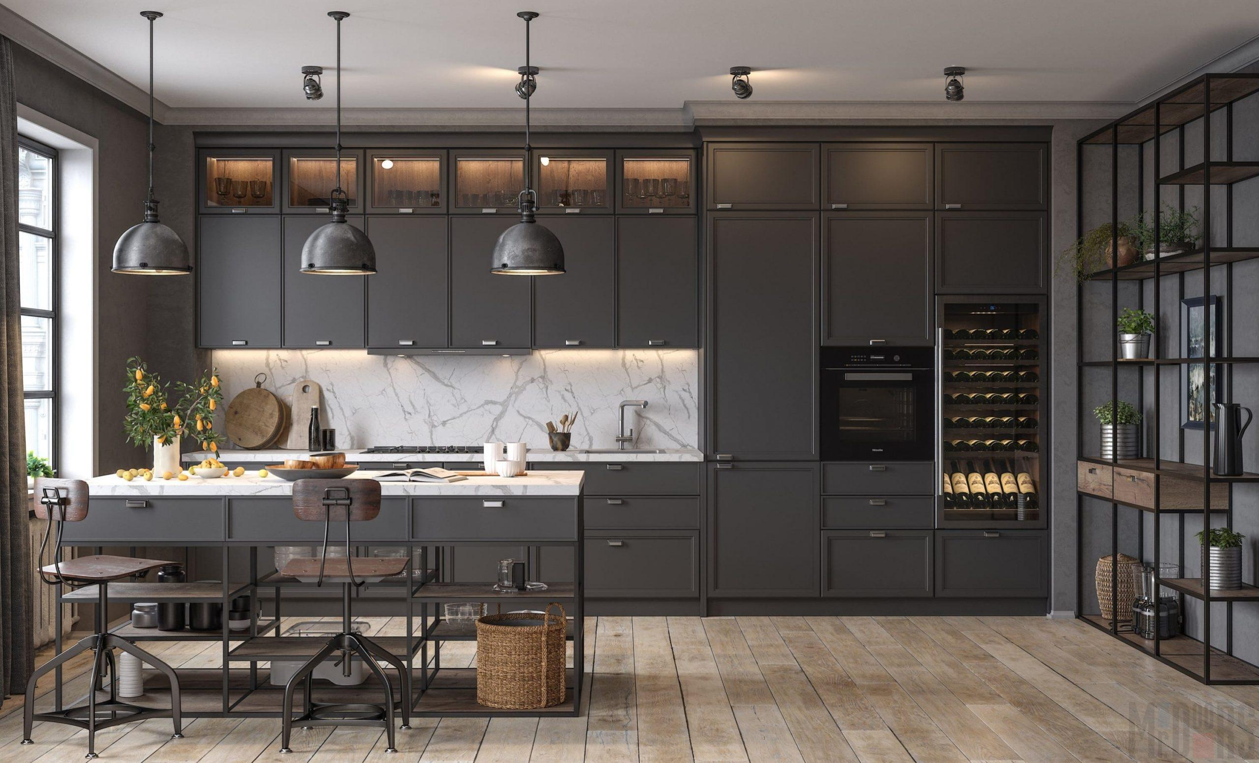 Кухня Interium Модерн.116 в контрастных тонах