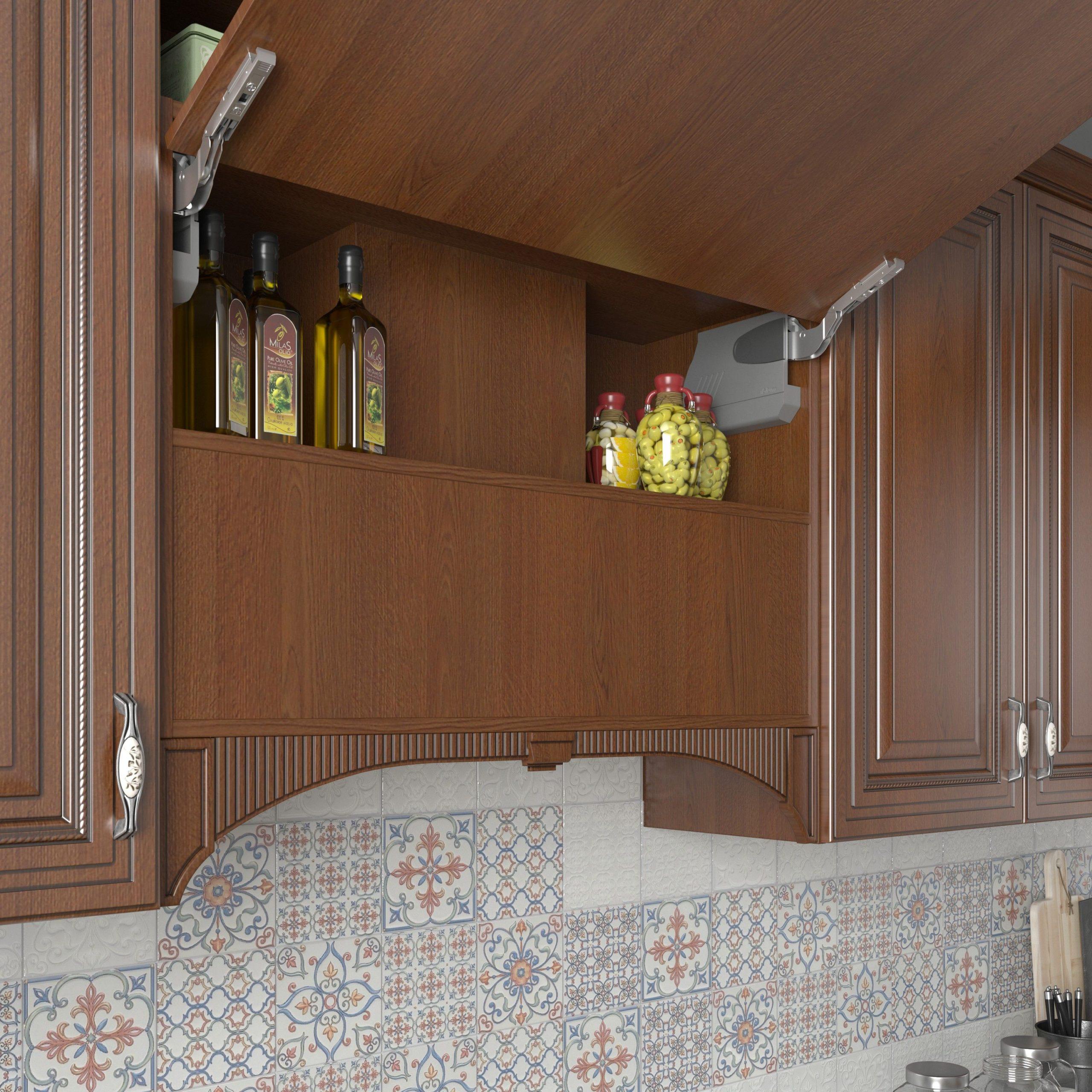 Кухня Interium Классика.21 - шкафчики и рабочий фартук