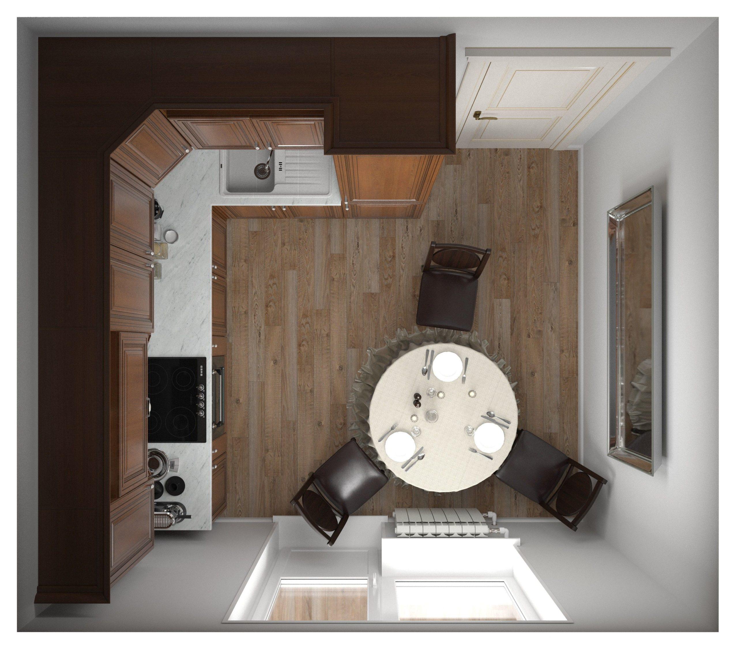 Кухня Interium Классика.21 - вид сверху