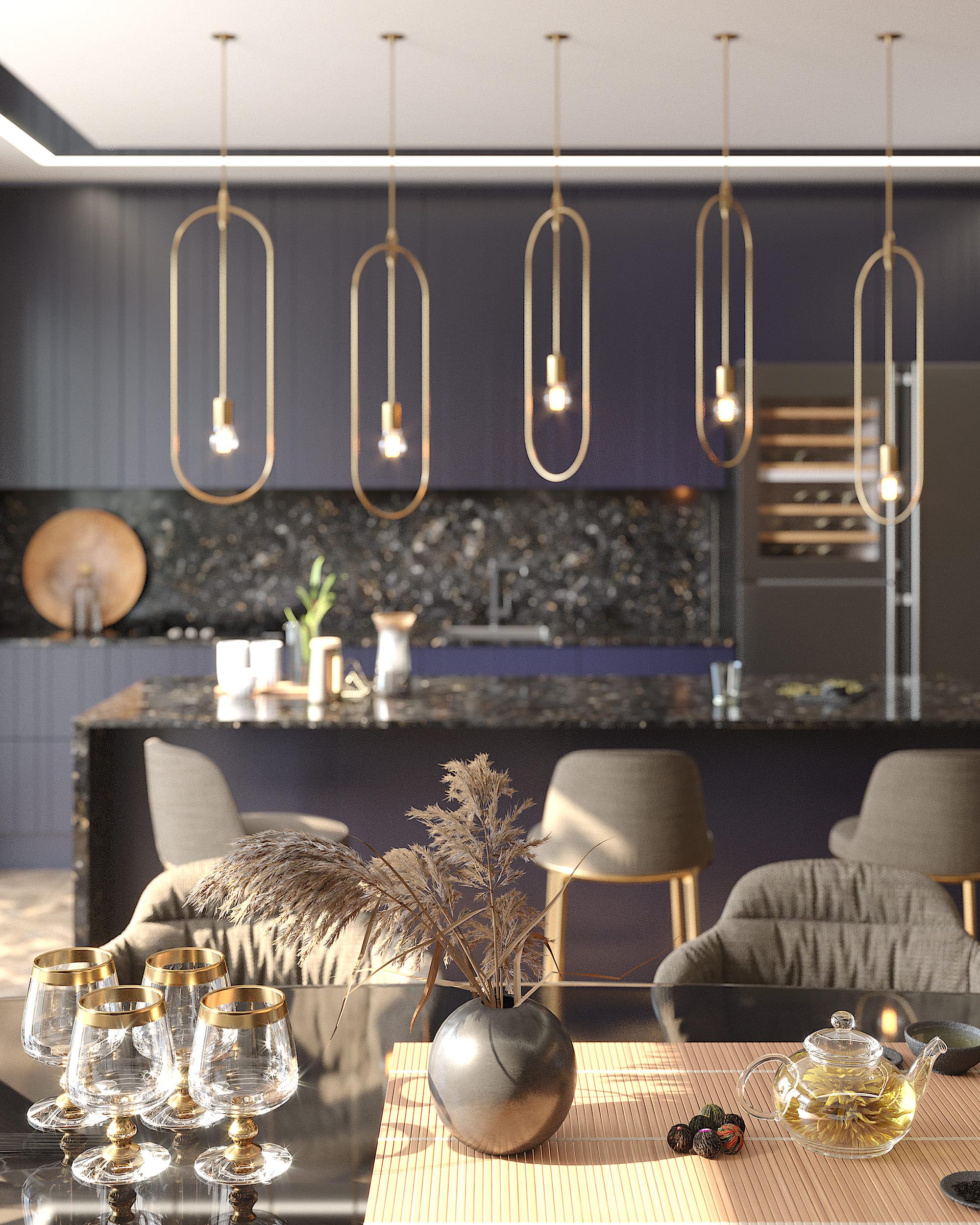 Кухня Interium Модерн.139 - темная цветовая гамма