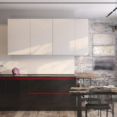 Кухня Interium Модерн.144 - контрастный интерьер