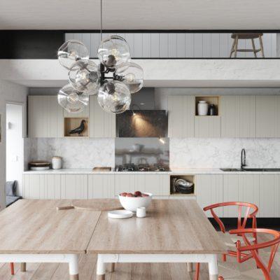 Кухня Interium Модерн.129 - рельефный фасад