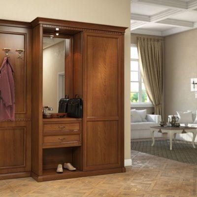 Итальянская прихожая (мебель под заказ под ключ)